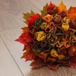Jesienny bukiet róż... z liści!